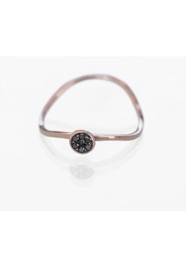 Pave Ring-Black Diamond