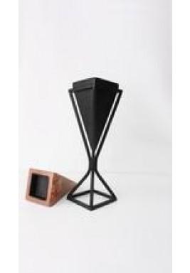 Black & Wooden Dual Breeze Mubkhar