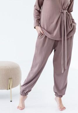 Beige Loungewear Pants