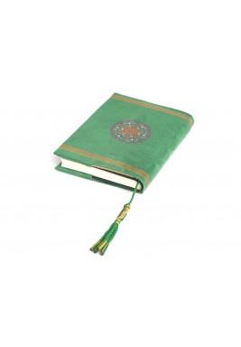 Bab Al Rayan Emerald Chamois Quran cover