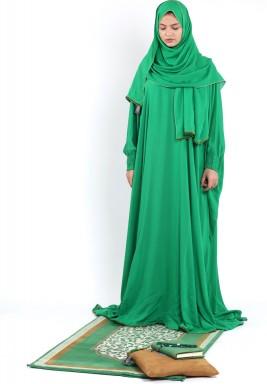 Bab Al Rayan Emerald Chamois  Full prayer set