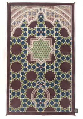 Al Ishaa Brown chamois Prayer Mats