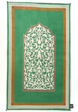 Bab Al Rayan Emerald chamois Prayer Mats
