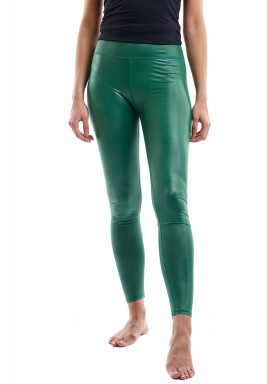 Green Metallic Maxi Leggings