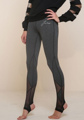 Grey Hooked Leggings