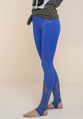 Blue Hooked Leggings