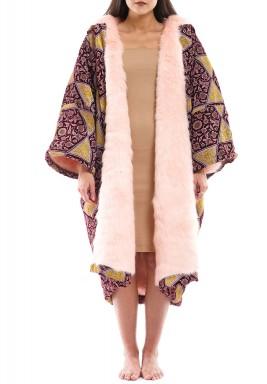 Bibii X Ghain Ghada: Pink Reversible Coat