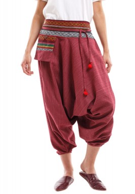 Maroon Sherwal with Karkosh & Dark Embroidery
