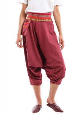 Maroon Sherwal with Karkosh & Light Embroidery
