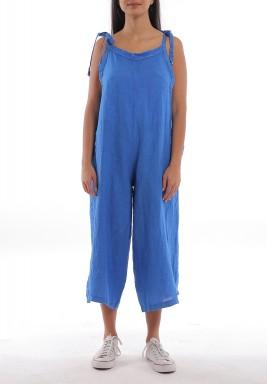 Blue Wide Legged Midi Jumpsuit