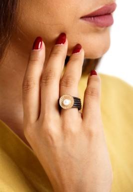 Pearl Rose Ring