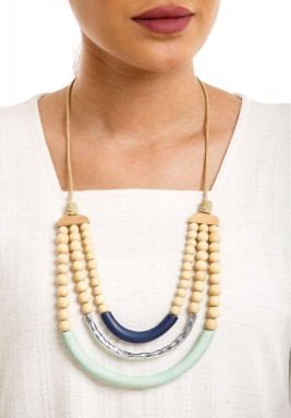 Beads & Bamboo Necklace
