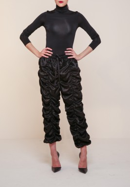 Ruffled black pants