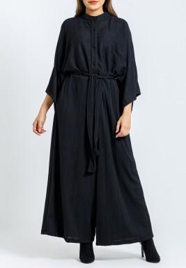Black Belted Sherwal Jumpsuit