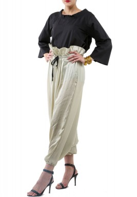 Creamy silk pants