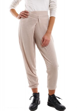 Striped Nude Trousers