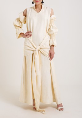 Creamy Maxi Dress