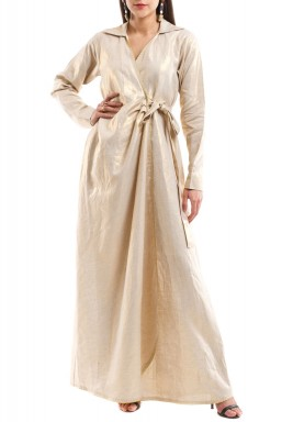 Golden Shimmery Wrap Kaftan