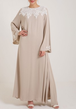 Trimmed Rayon Dress