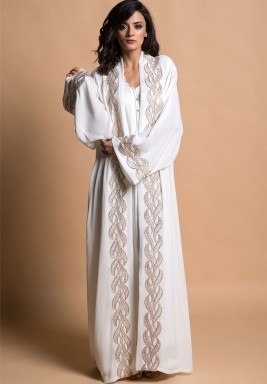 Ecru robe set