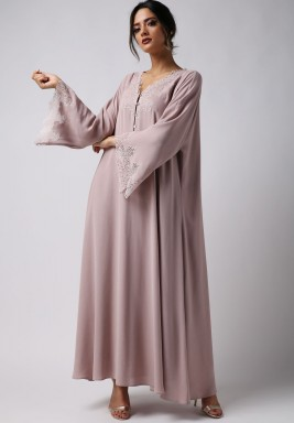 Wide sleeve Trimmed Dress