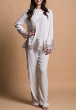 Spring Silver Pajama Set