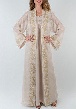 Gold Leaves Kaftan Set