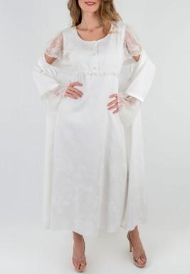 White Night Gown Set