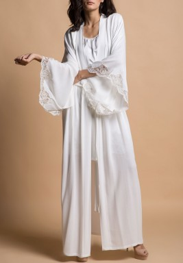 White Tulip Silky Robe Set