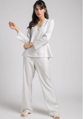 Pyjama set luna light grey