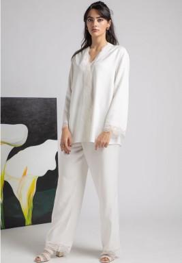 Pyjama set pearl ecru