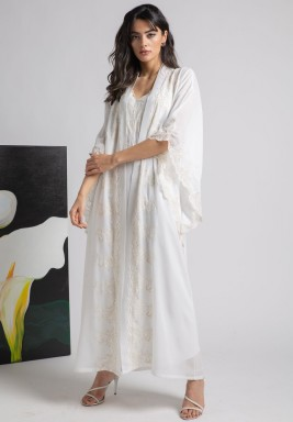Wavy soft robe set goldish