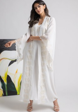 Shell White Lace Robe Set