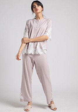 Cotton pyjama set spring powder