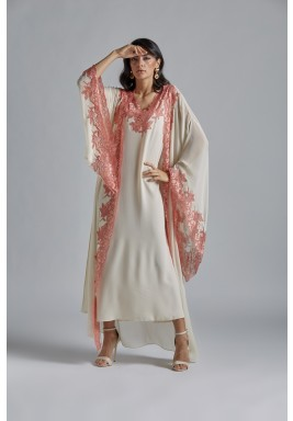 Silk Chiffon Honey Robe Set miel