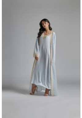 Silk Chiffon Baby Blue Robe Set bronzie
