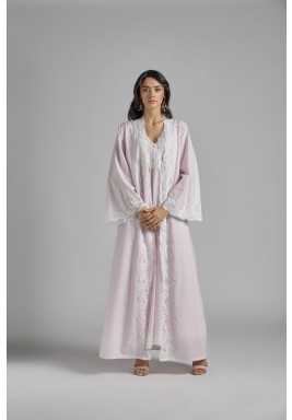 Baby Pink Cotton Maxi Robe Set