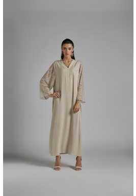 Nightgown Beige-Delicada