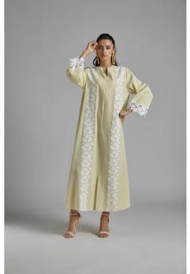Trimmed Linen Dress