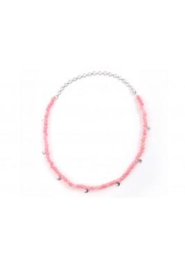 Amulet choker (Rose quartz stone)