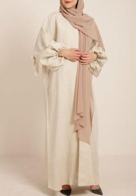 Back drawstrings abaya