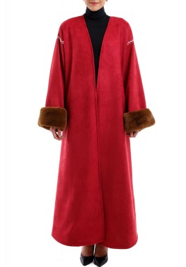 Red fur bisht