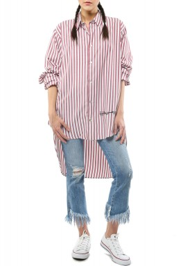 Striped pink shirt