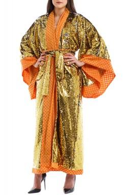 Golden Pixie Chrissanth kimono