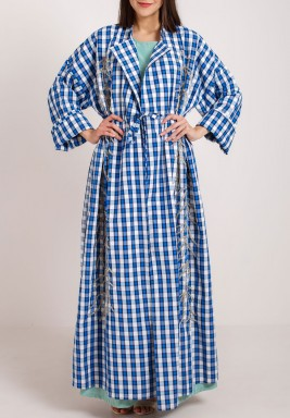Checkered kaftan set