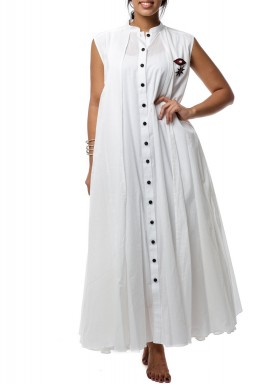 Cotton layers White Dress