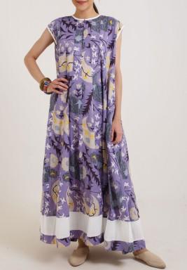 Extra Flowy Purple Kaftan