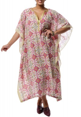 Andrea Printed Linen Dress