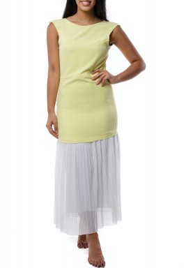 Mira Summer Maxi Dress light Yellow