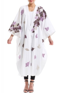 White Purple Leaves Bisht